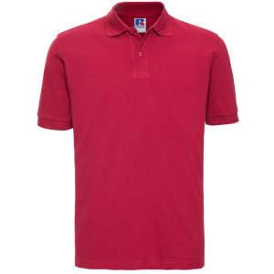 Herren Classic Cotton Poloshirt in Classic Red