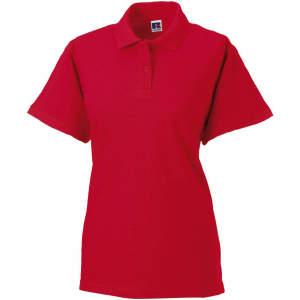 Damen Classic Cotton Poloshirt in Classic Red
